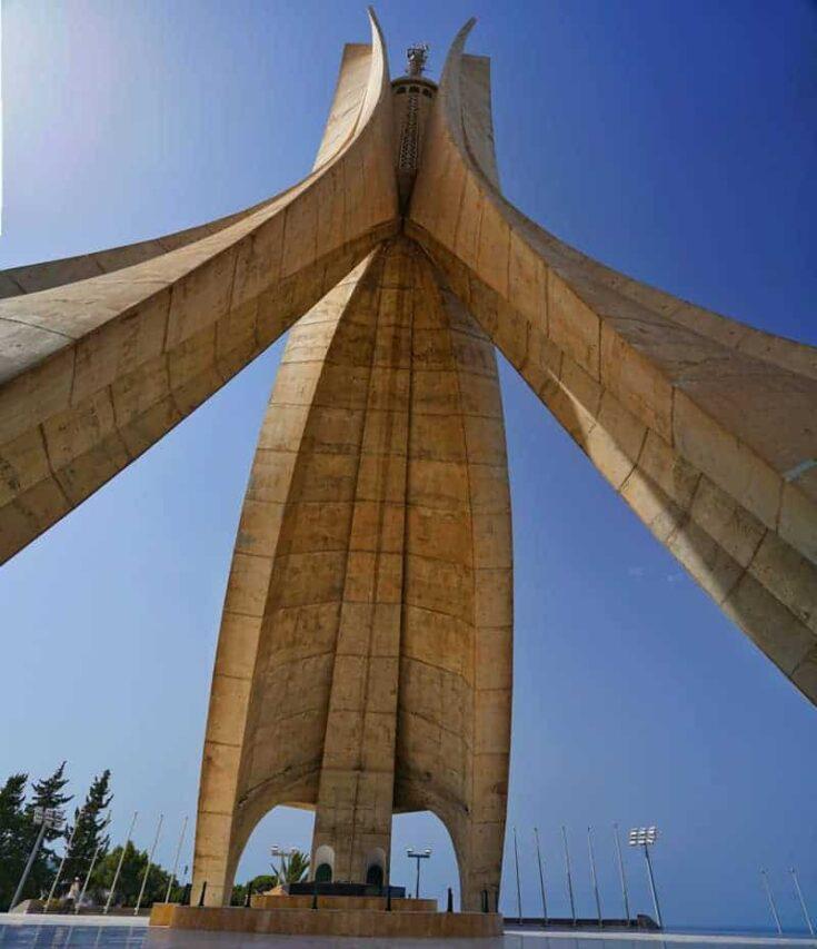 Martyrs' Memorial Monument in Algiers algeria