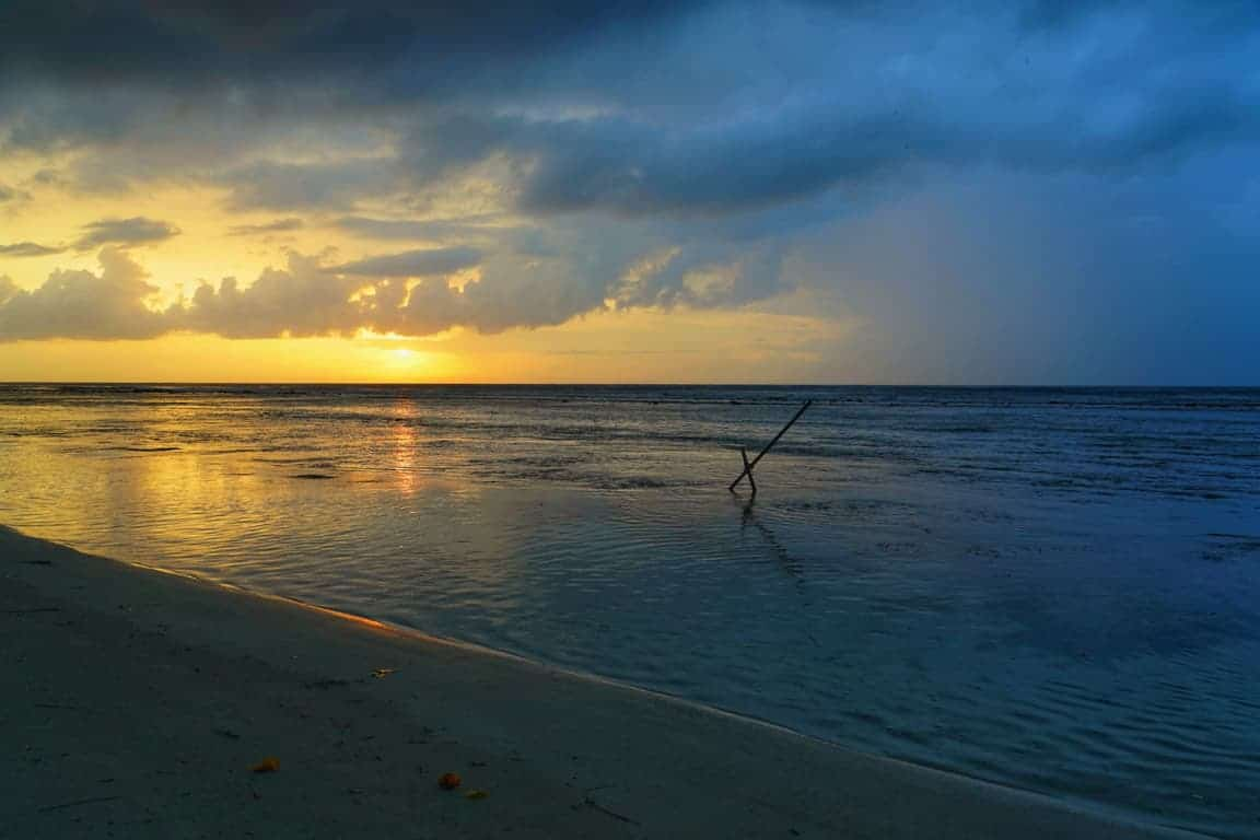Dhigurah Island sunset in the Maldives