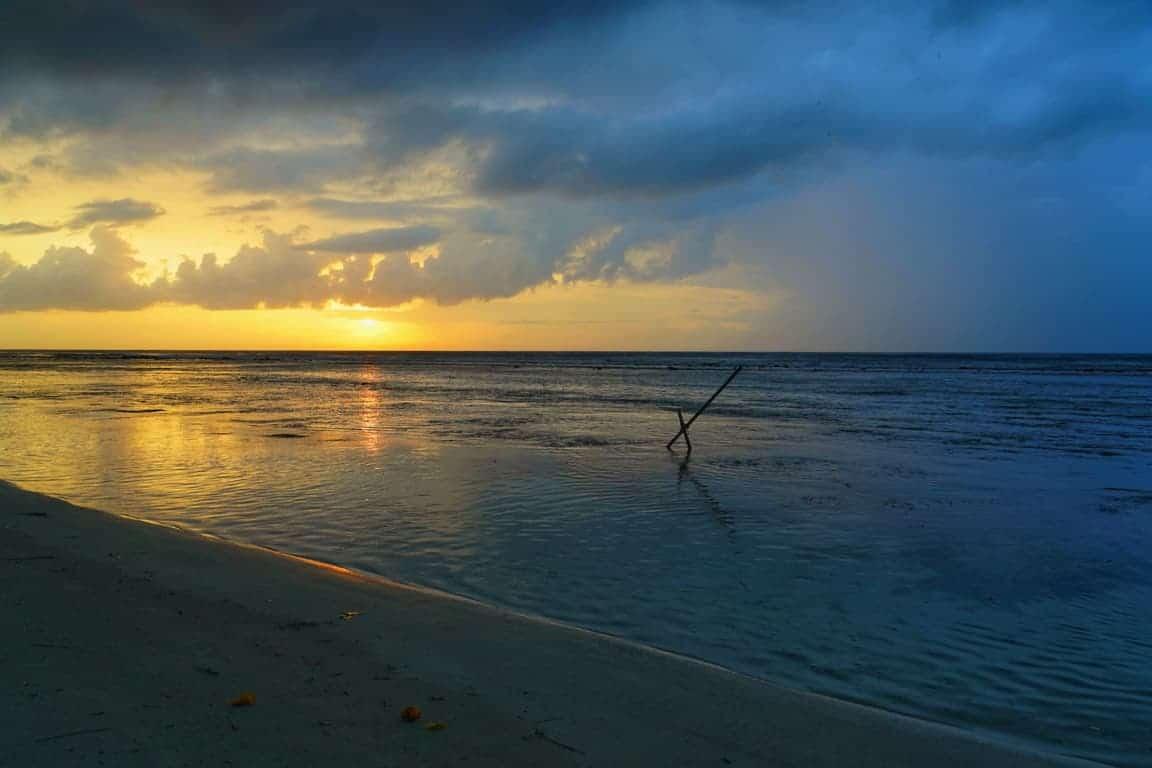 Dhigurah Island sunset in the Maldives