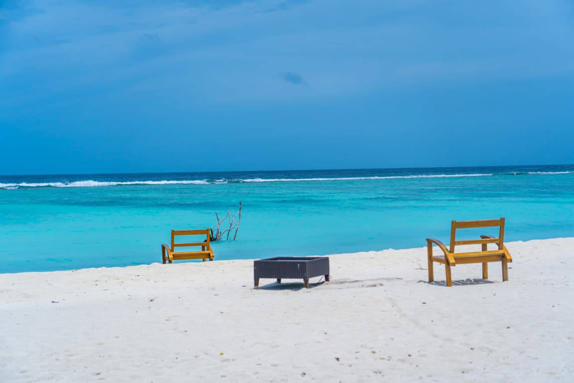 Dhigurah island in the Maldives