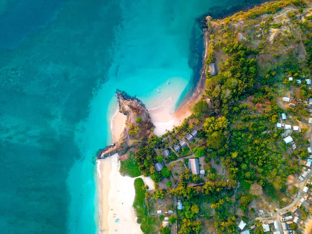 Moheli in comoros from above