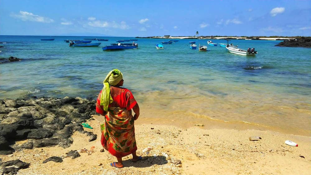 local waiting for a ferry in comoros