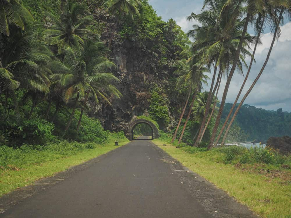 The only tunnel in Sao Tome & Principe.