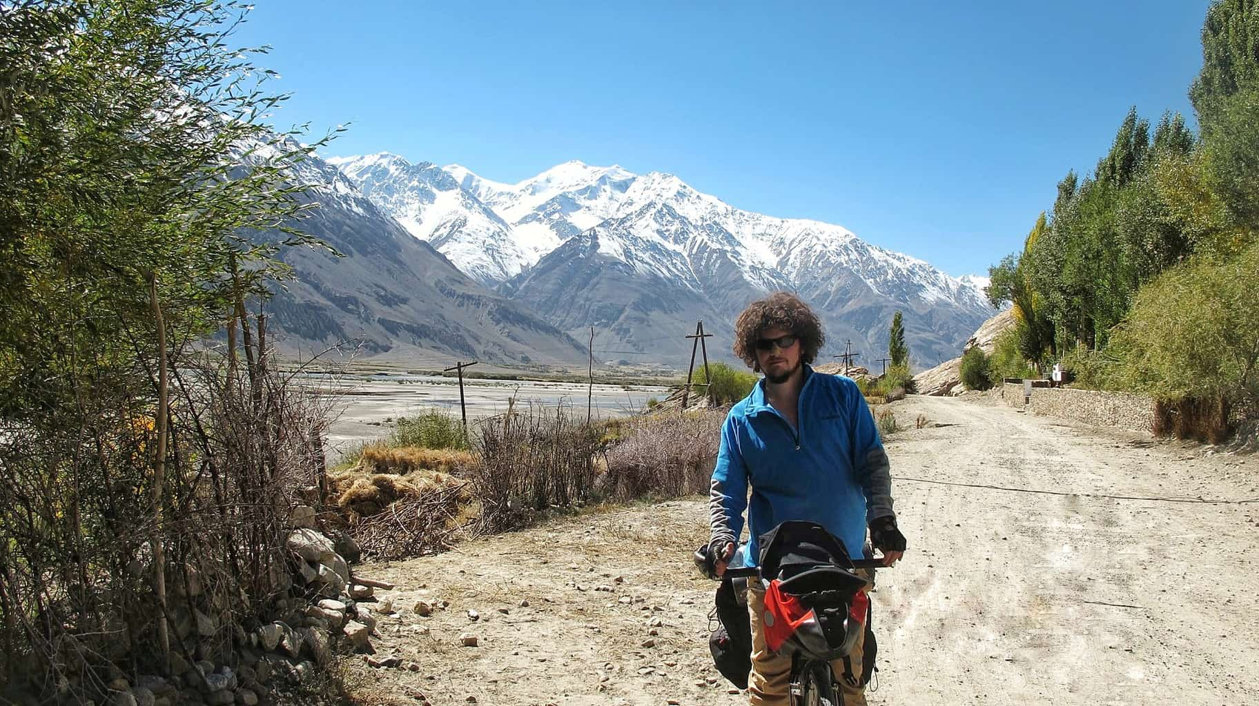 Me Biking through Central Asia