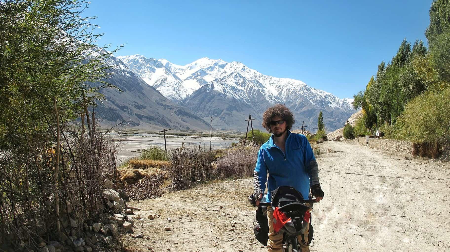 Me Biking through Central Asia