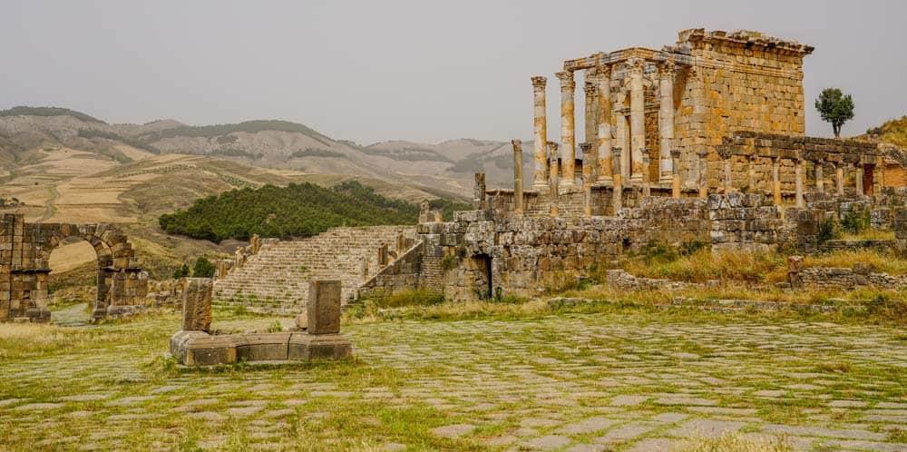 Temple of Gens Septimia in Djemila