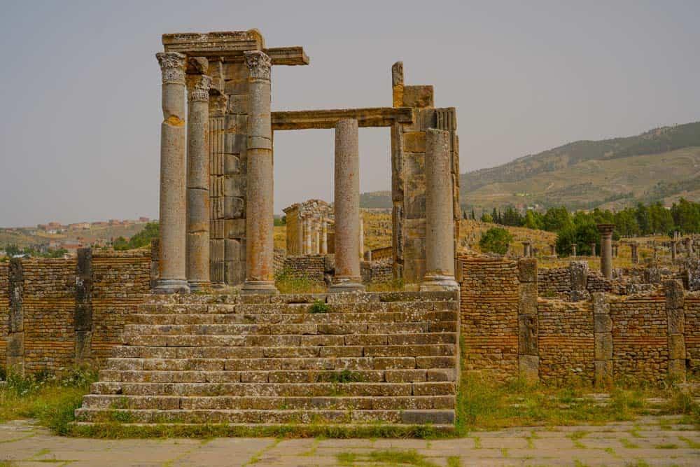 Djemila roman ruins in Algeria