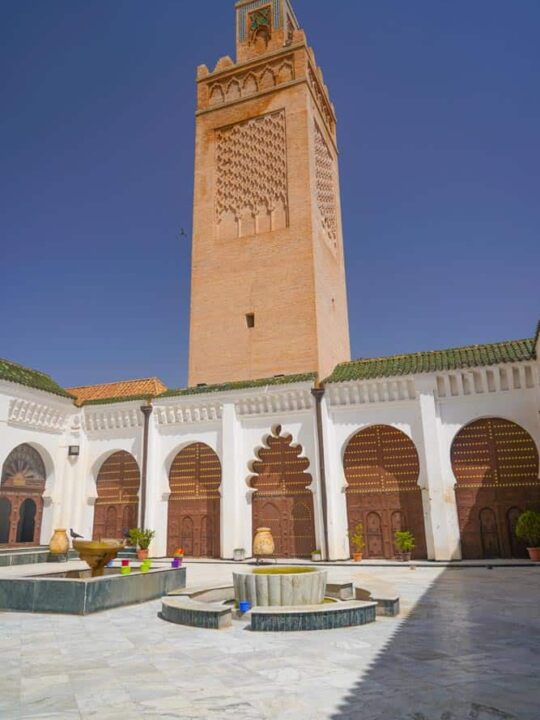 Inside the Great Mosque of Tlemcen