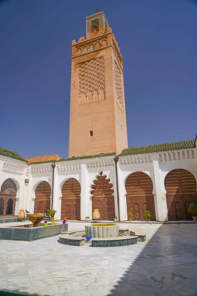 Inside the Great Mosque of Tlemcen