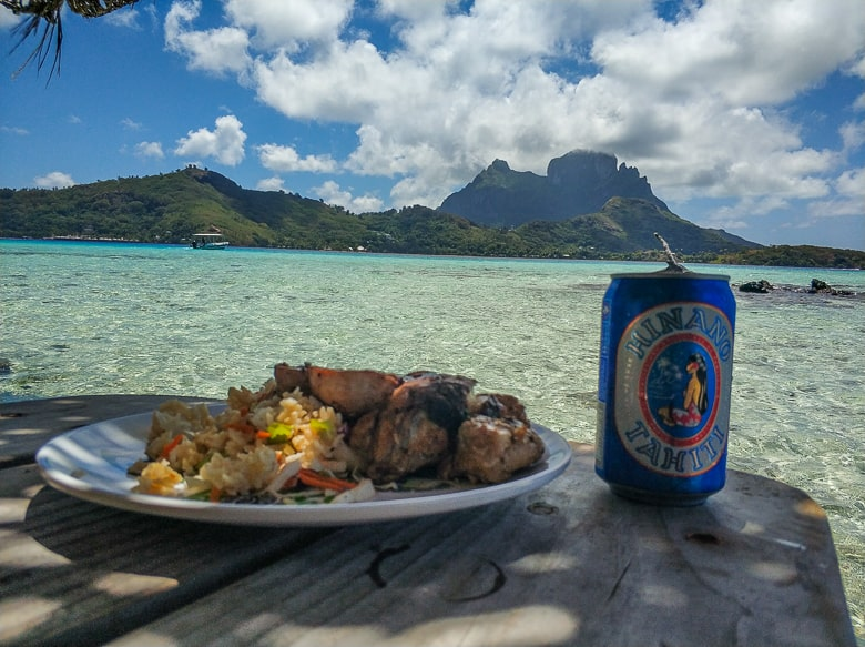 have you ever had a better view while having lunch? paradise in Bora Bora