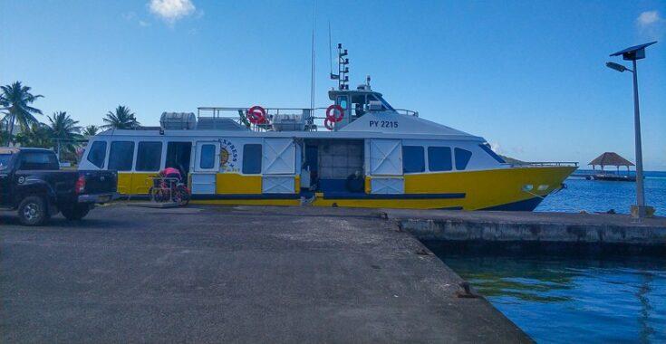 The ferry to Maupiti from Bora Bora