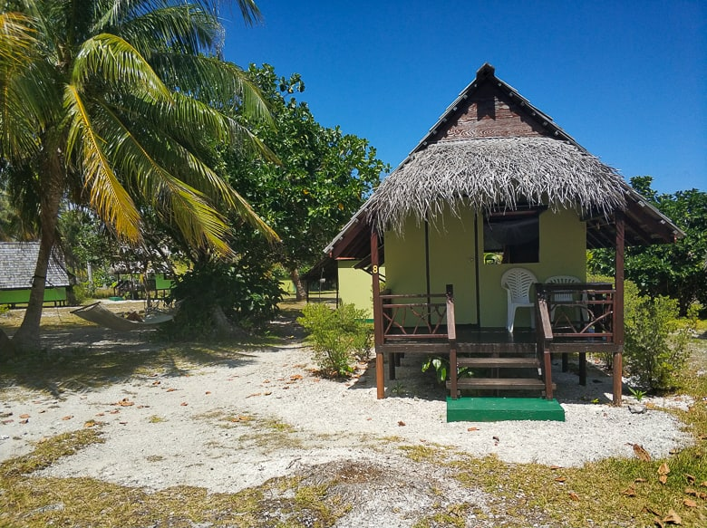 one of the seven bungalows at Relais Marama.
