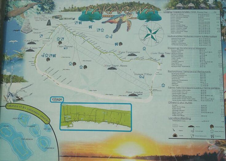 Fakarava map french polynesia