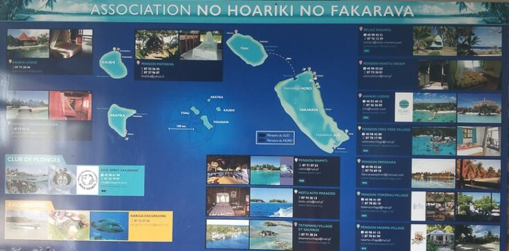 All accommodation options here on Fakarava.