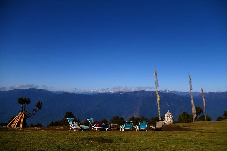 mountain view in Bhutan