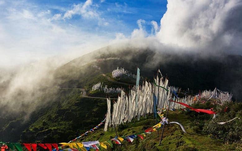 The top Chelea of Pass in Paro, Bhutan