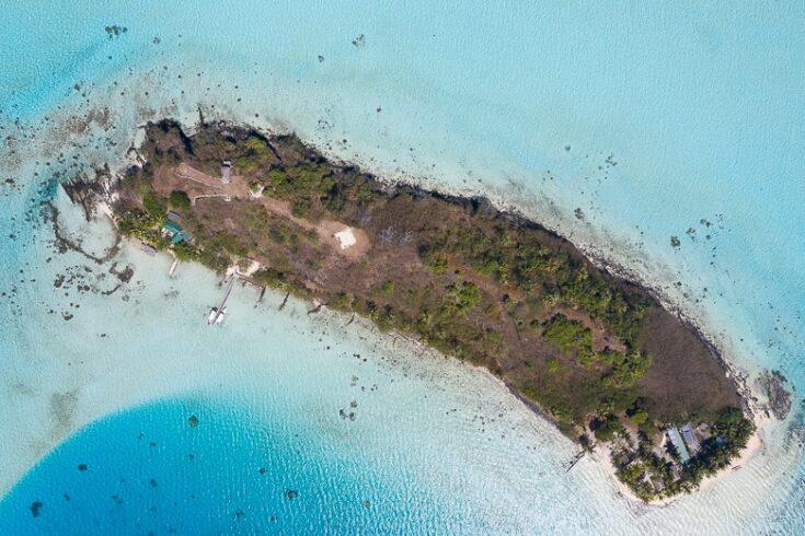 The small Motu where you will have lunch in Bora Bora