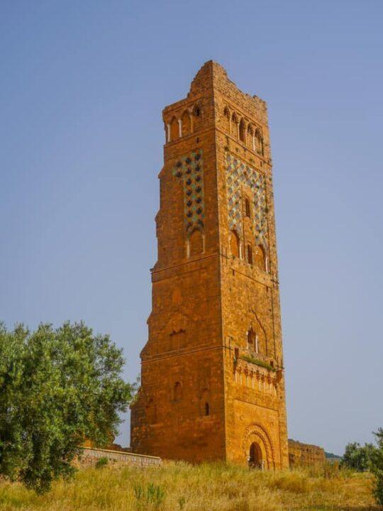 The 38 meter tall Minaret Mansourah