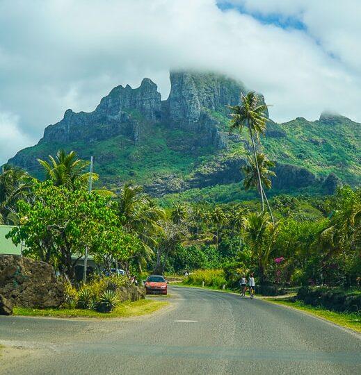 The road around Bora bora