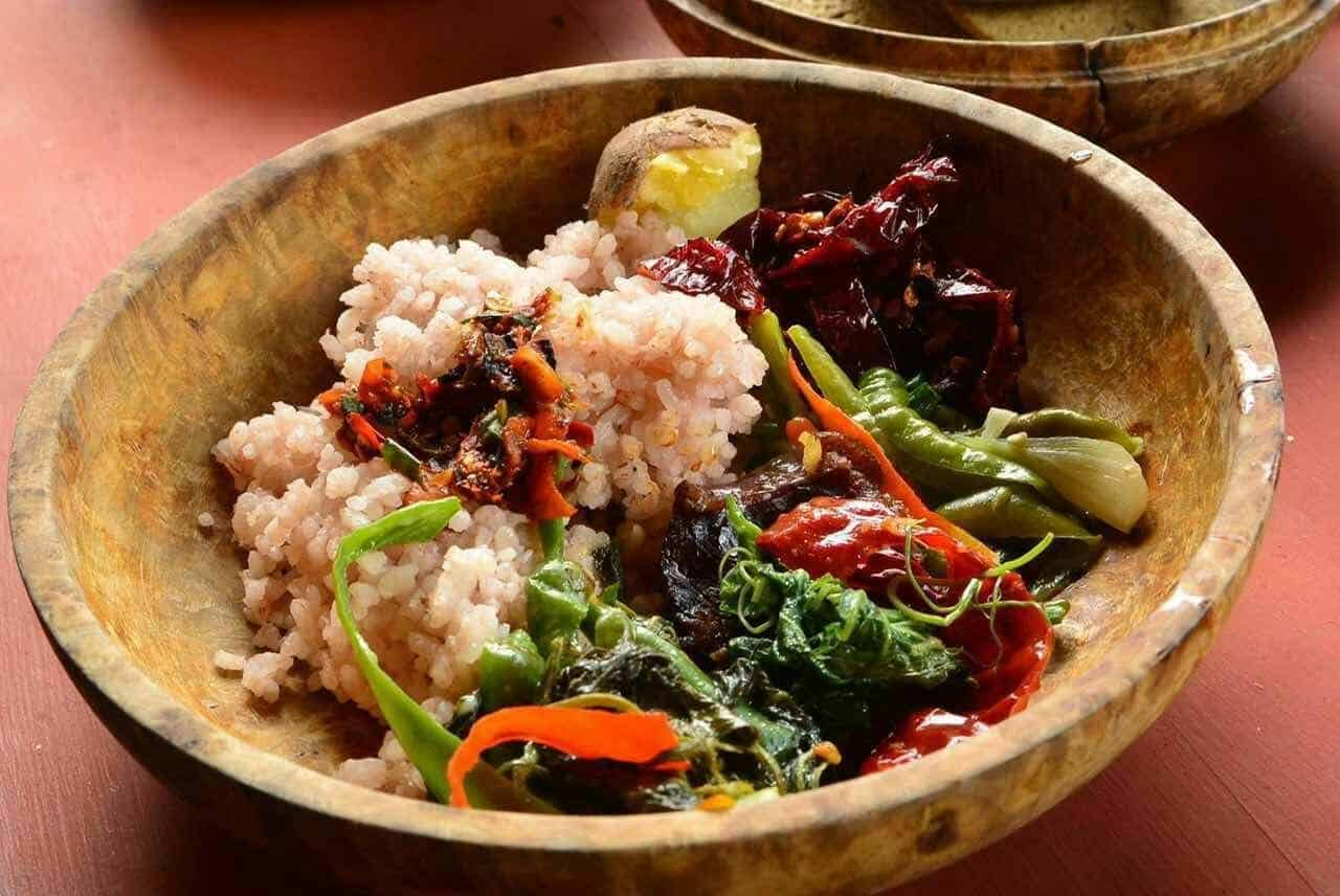 typical local food in bhutan