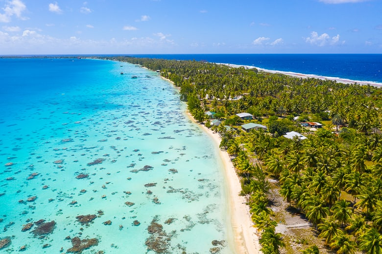 The paradise Atoll of Fakarava in FrencH Polynesia