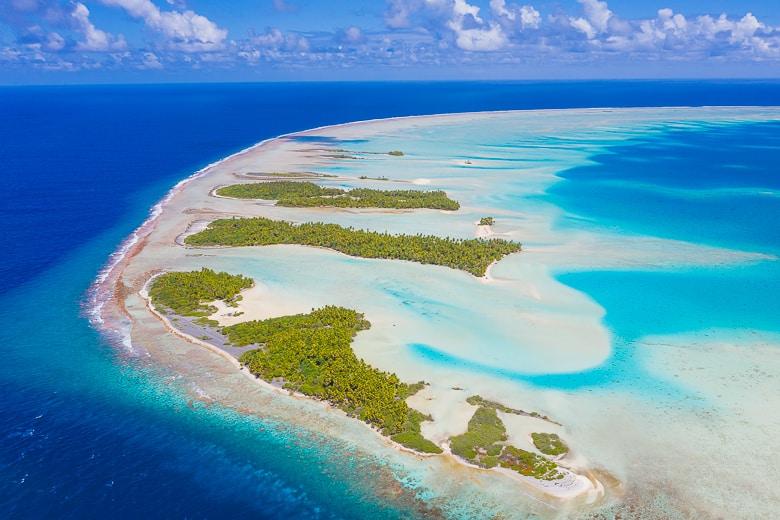 Southern Fakarava Atoll in French Polynesia