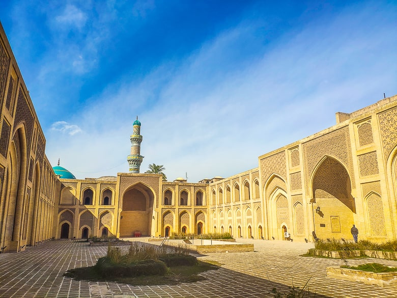 The courtyard of Mustansiriya Madrasah the oldest school in the world, in Baghdad