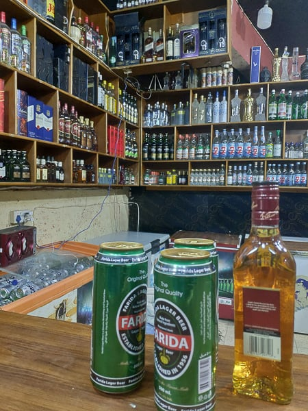 Local Liqour store in Baghdad