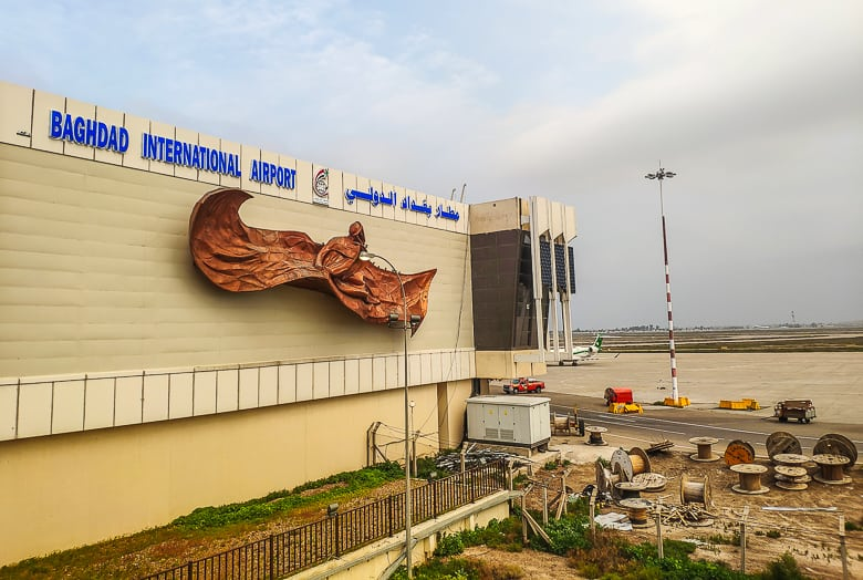 Hello Baghdad Airport, formerly known as Saddam Airport