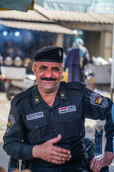 Everyone welcomed me with a smile around Baghdad