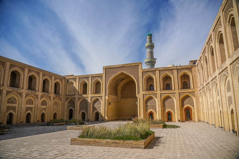 The courtyard of Mustansiriya Madrasah a must vist in Baghdad the capital of iraq