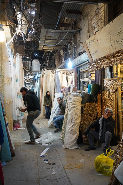 Locals working at Baghdad Market.