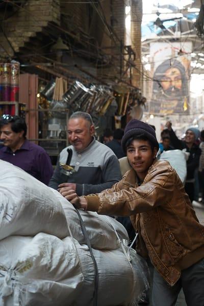Locals working in market