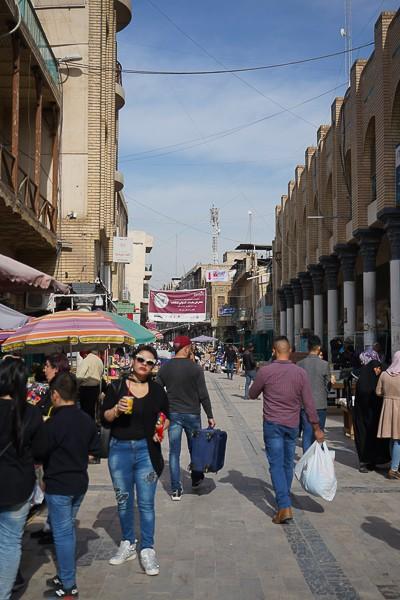 Baghdad shopping street
