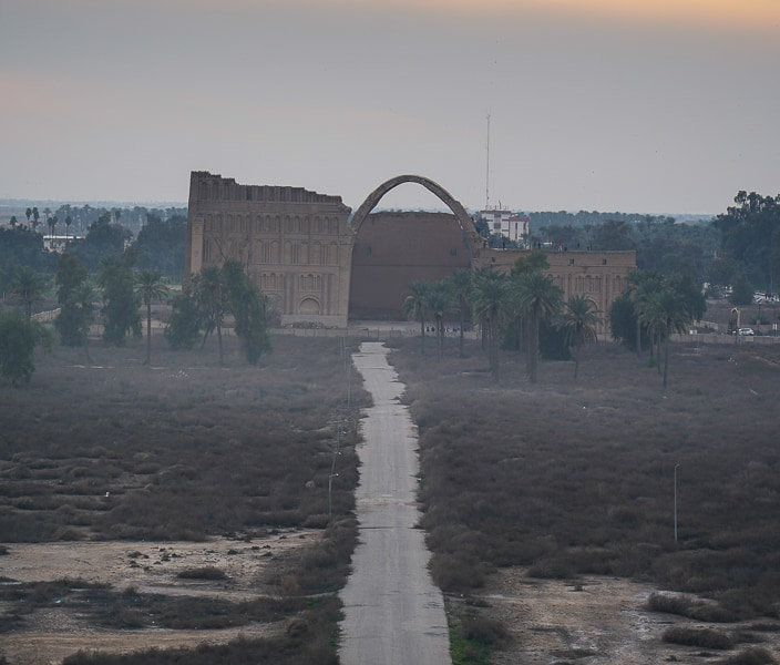 The view over Taq Kasra from the panoramic building in Iraq