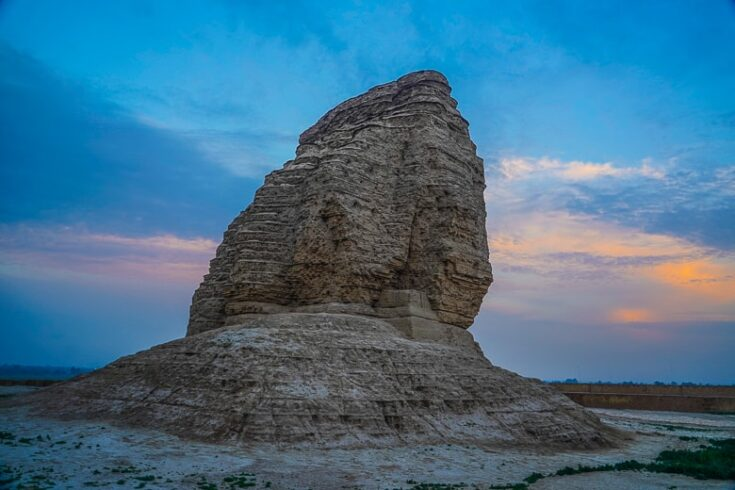 Dur-Kurigalzu Just before Sunset In iraq