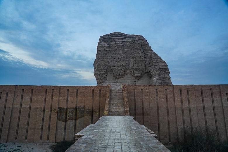 Walking up to Dur-Kurigalzu in Iraq