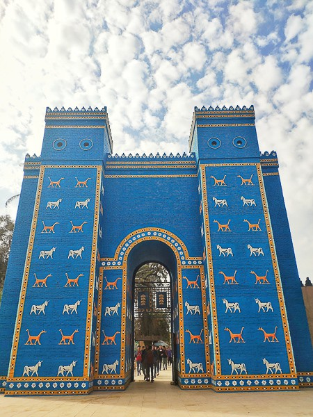 The replica of the famous Ishtar gate which is located in Berlin