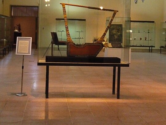 the lyre of ur one of most important artificas inside the museum