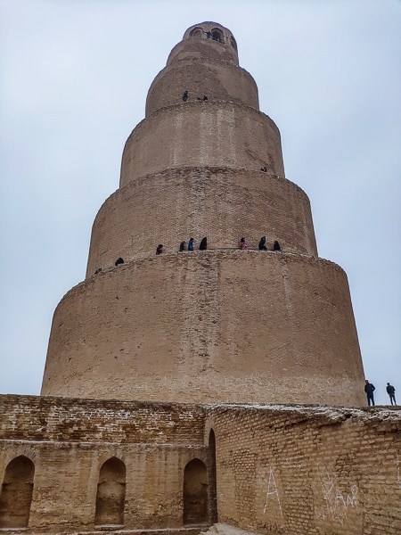 Close up with the Minaret /Malwiya Tower.