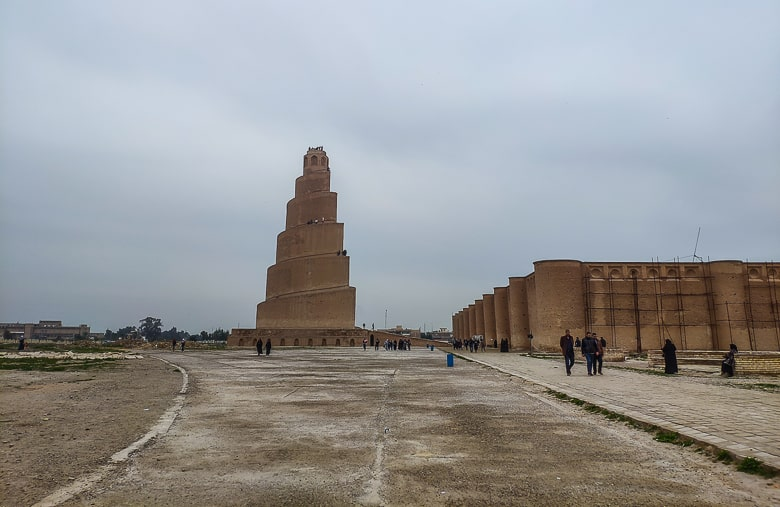 Walking Towards The Great Mosque Of Samarra. unfortunately was the weather terrible during my visit