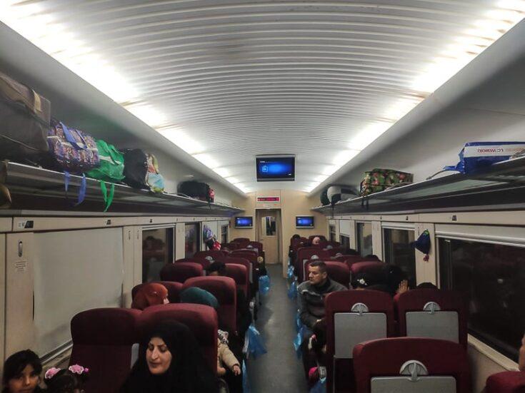 The train got completely full on Iraq train