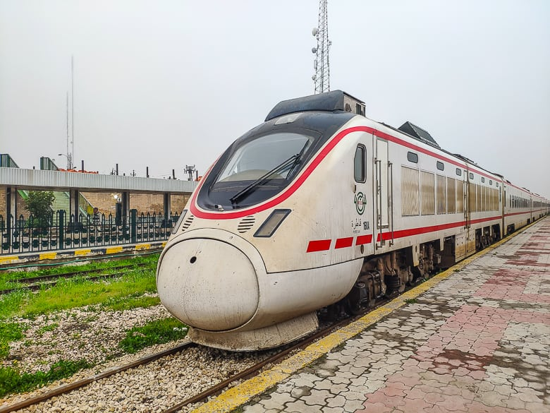 Another train parked at Baghdad Railway Station.