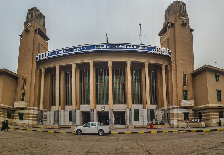 Baghdad railway station in Iraq