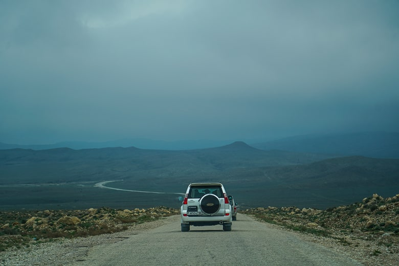 Heading into no mans land in western Turkmenistan.