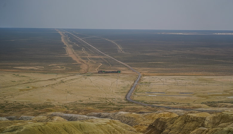 The straight road to nowhere in Turkmenistan