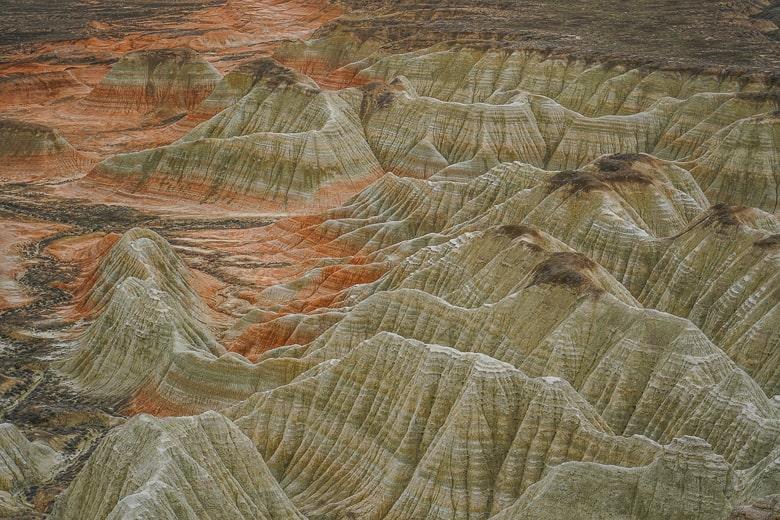 Turkmenistan lanscape in Yangykala Canyon.