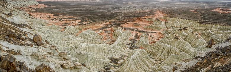 Yangykala Canyon landscape in Turkmenistan
