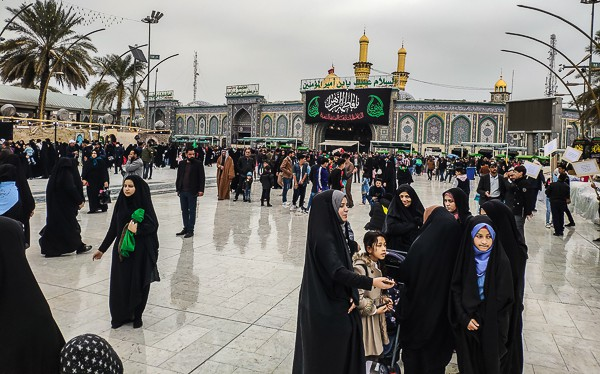 Visiting the holy city of Karbala.