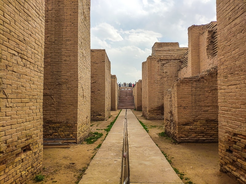 Orginal walkways in Babylon, this is where the Ishtar gate which is located in Berlin once stood.
